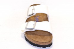 Birkenstock Sandale Arizona Briko-Flor Magic galaxy white soft footbed BF057663