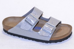Birkenstock Sandale Arizona Briko-Flor BF057653 Magic galaxy silver soft footbed BF057663