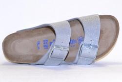 Birkenstock Sandale Arizona Briko-Flor BF057653 Magic galaxy silver soft footbed BF057663