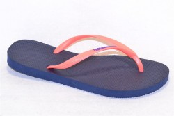 havaianas slim logo navy blue/pink