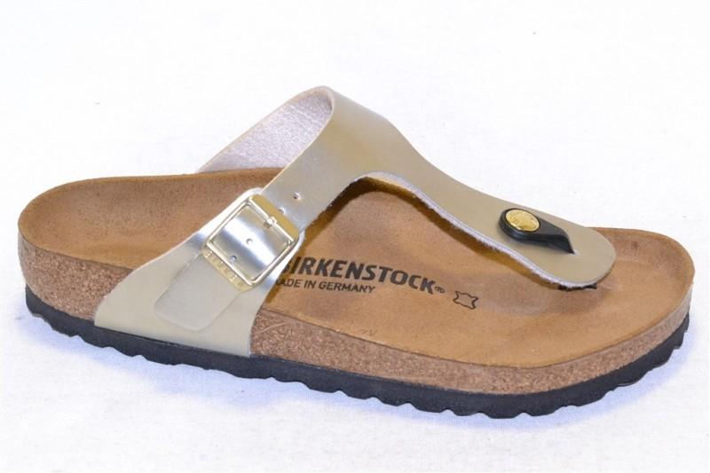 birkenstock gizeh bk1011553 birko-flor metal gold