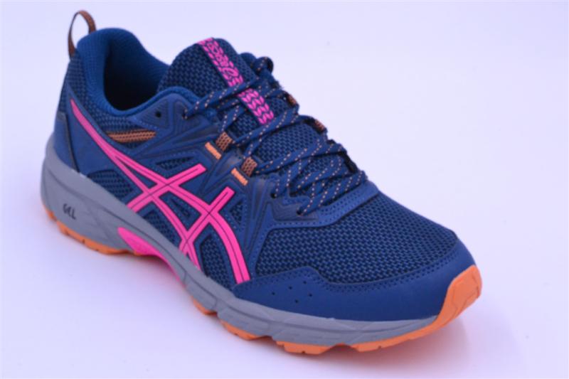 asics gel-venture 8 femme mako blue/pink glo textile multi-marine